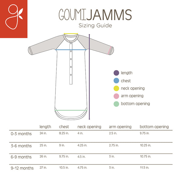 goumi jamms sizing guide