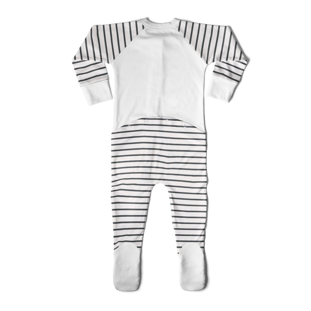 FOOTIES | STRIPE GRAY