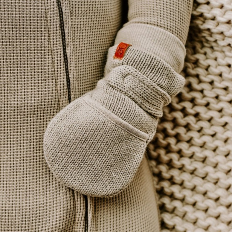KNIT MITTS | ASH