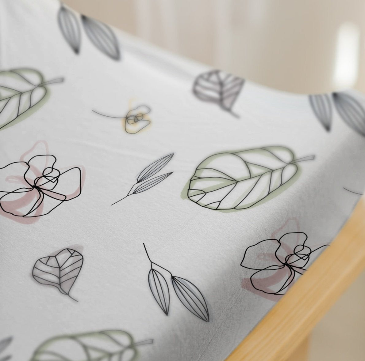 3 PIECE BEDDING SET | ABSTRACT FLORAL