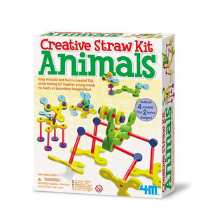 Creative Straw Animals - Juguetes creativos - Juguetes educativos - Juguetes STEAM