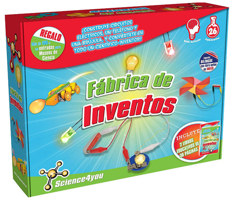Juguetes educativos - Juguetes STEAM - Play & Explore - Fabrica de inventos - Science4You