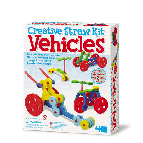 Creative Straw Kit - Vehicle - Juguetes didácticos - Juguetes STEAM