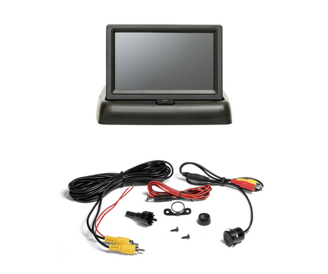 "Vehicle Backup Camera TTP-C12B & 4.3"" Monitor Kit - Universal for all cars"