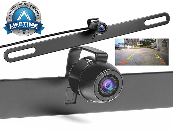 Vehicle backup Camera, Muti-Functional Hidden License Plate Rear View/ Front View Reverse Camera, Best For Trucks, Cars & Rv, TTP-C13B Upgraded Version- IP68 Waterproof & Night Vision