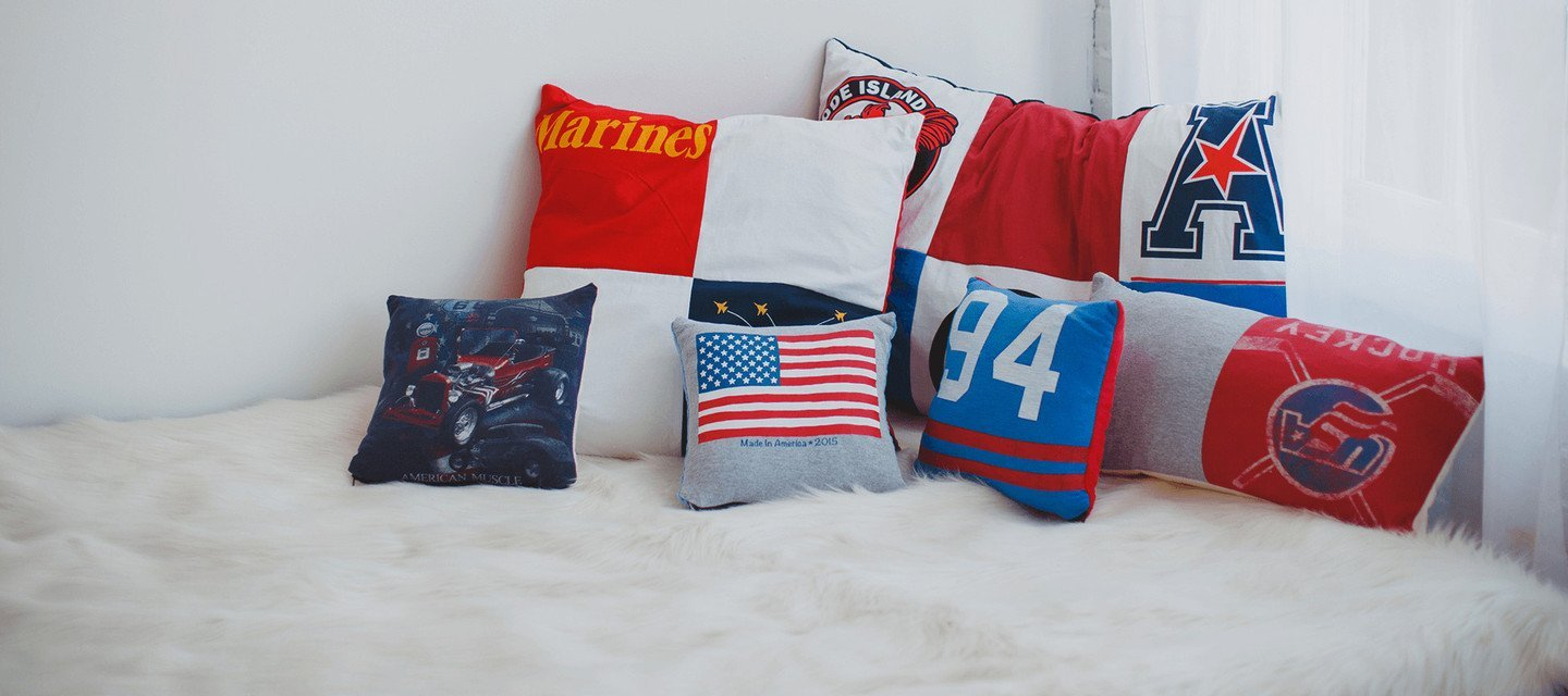 CUSTOM T-SHIRT QUILT PILLOWS