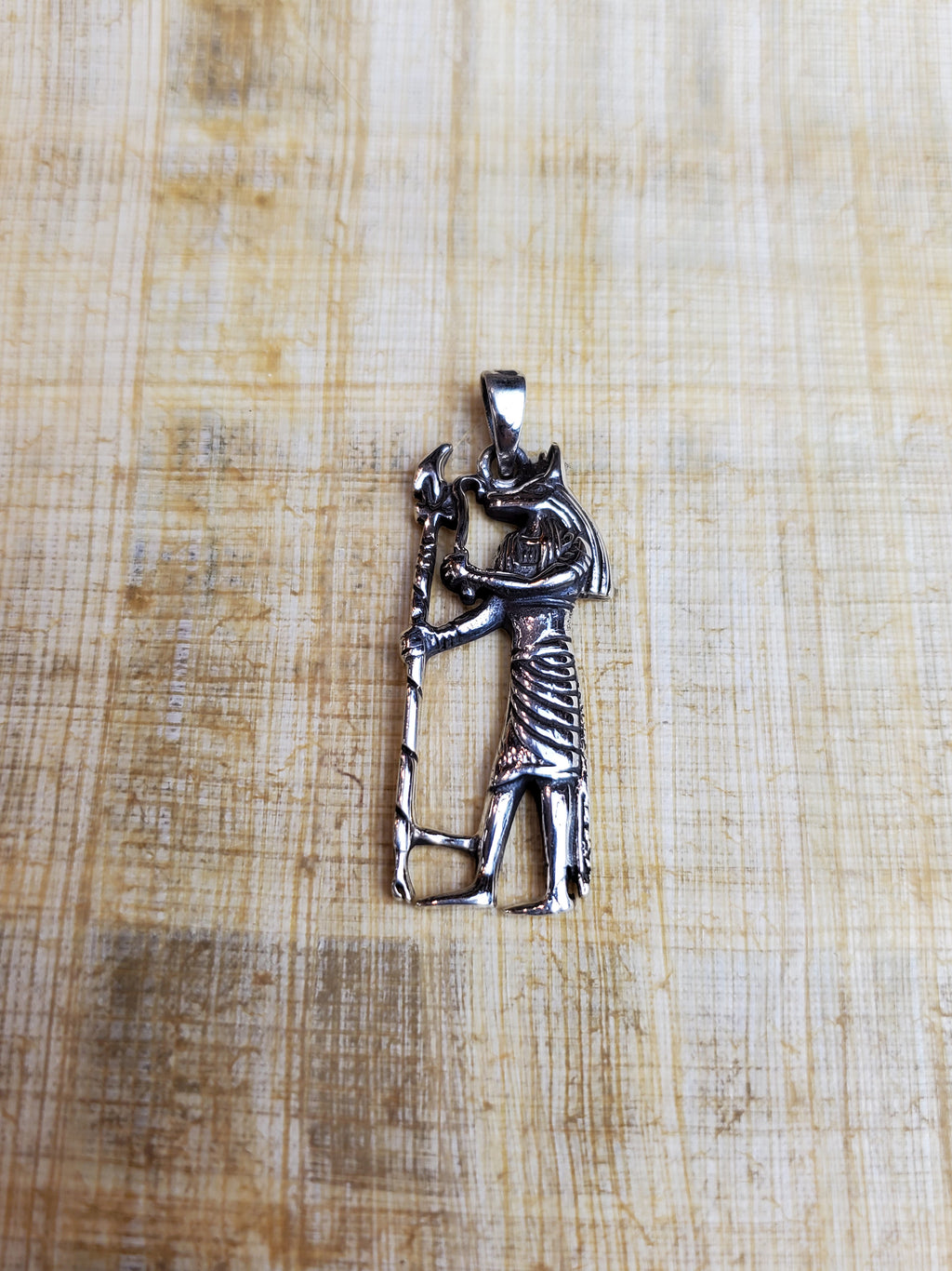 God Anubis Pendant in Sterling Silver