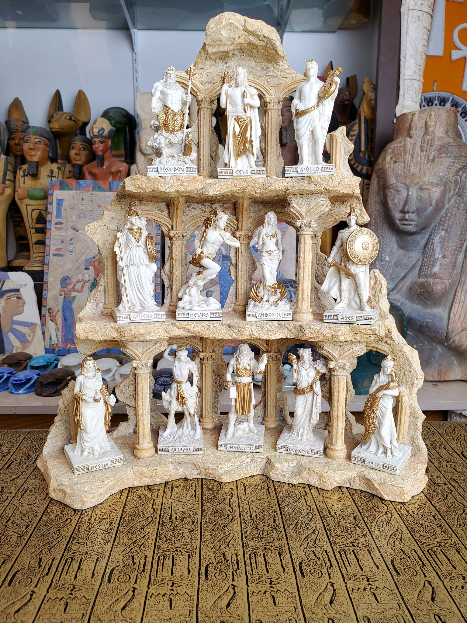 Ancient Greek Gods & Goddesses Mini Statues set of 12 - Greek Twelve Olympians