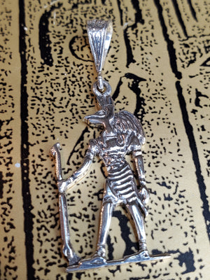 Anubis Pendant - Egyptian Sterling Silver Made in Egypt - Ancient Egyptian God Anubis