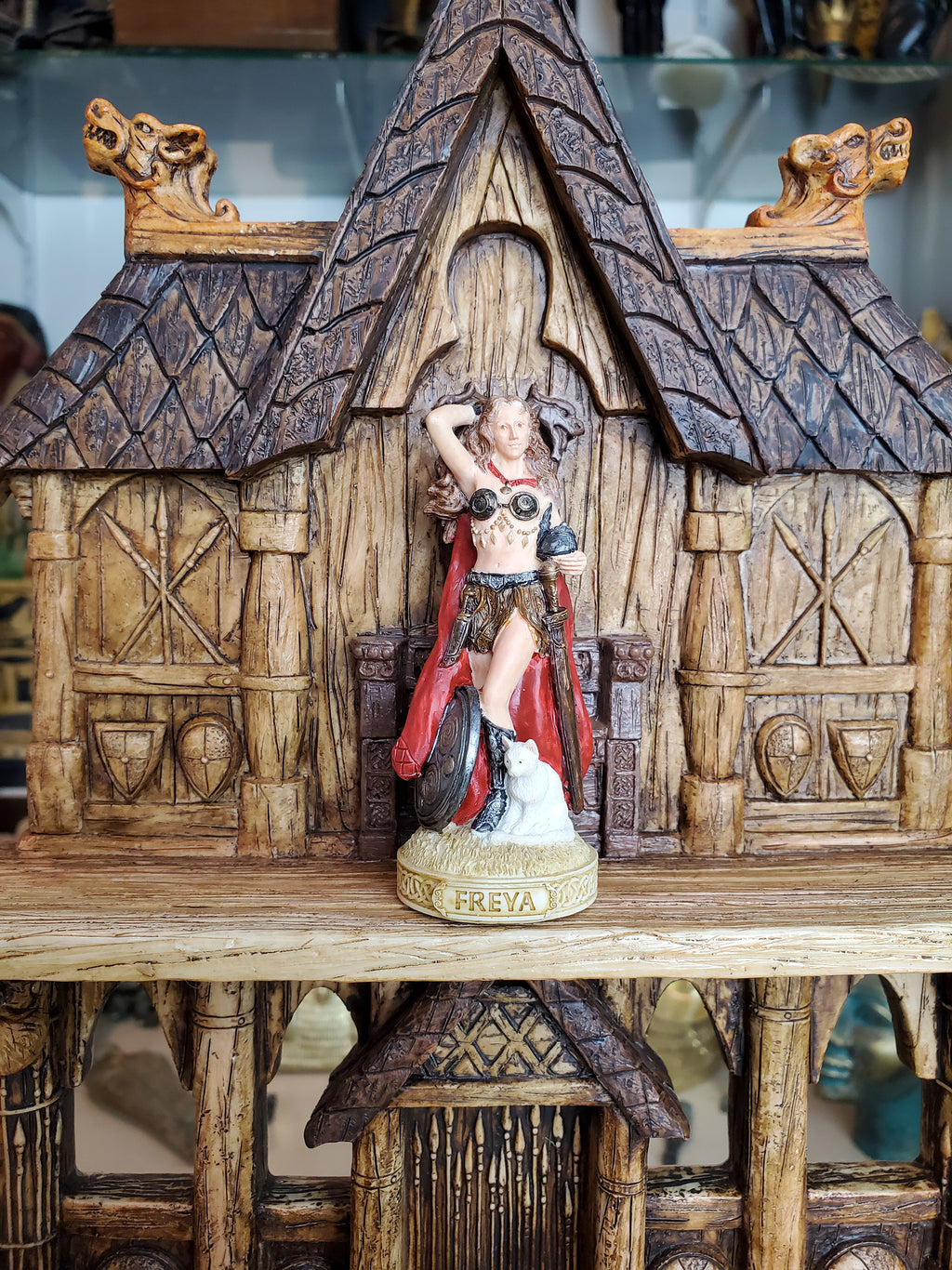 Freya Mini Statue - Small Hand-Painted Norse God Freyja/Freja
