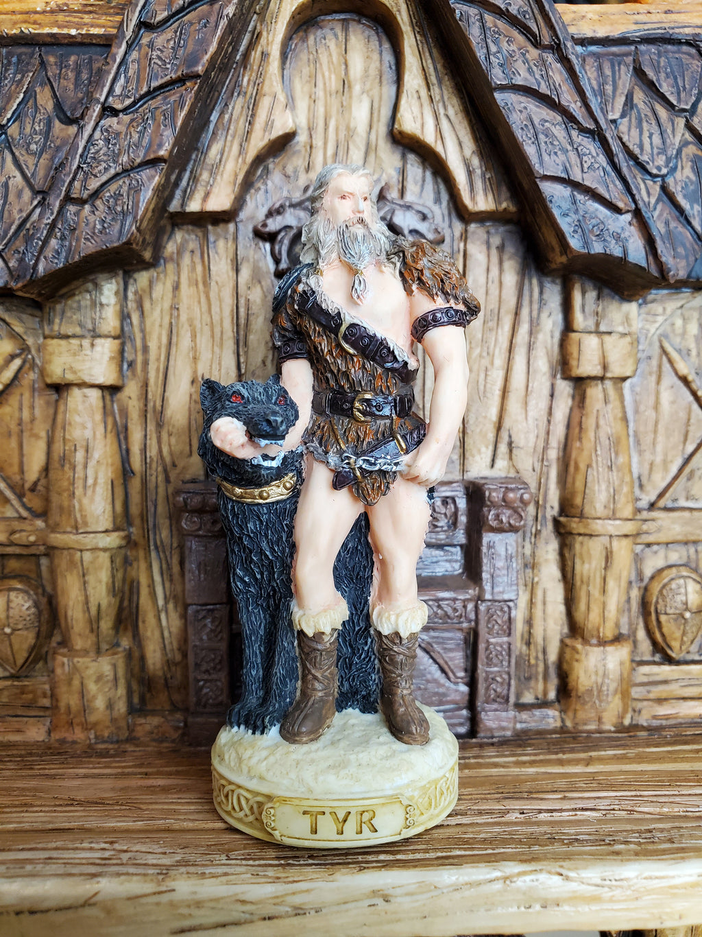 Tyr Mini Statue - Small Hand-Painted Norse God Tyr/Týr