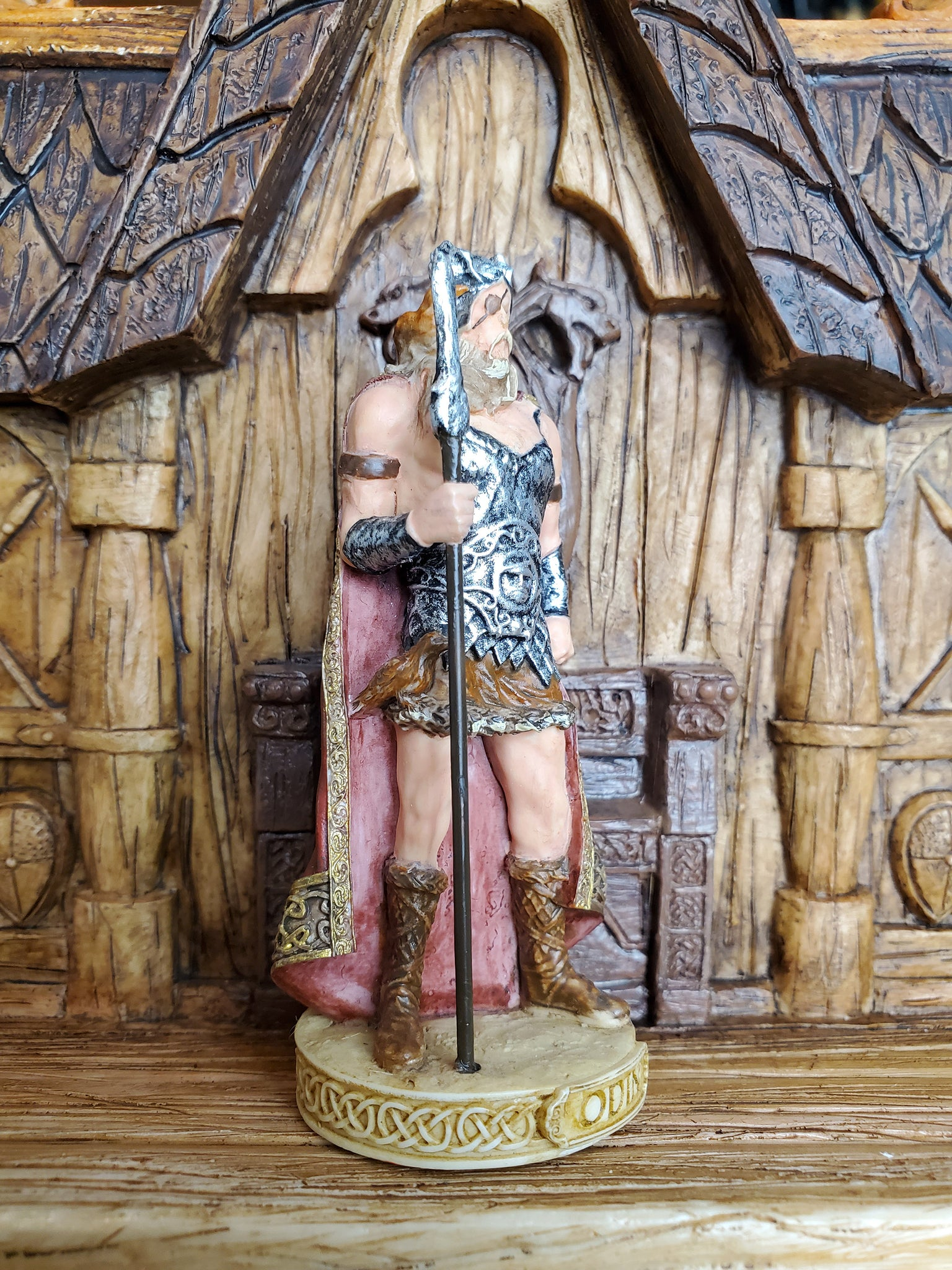 Odin Mini Statue - Small Hand-Painted Norse God Loki/Loptr