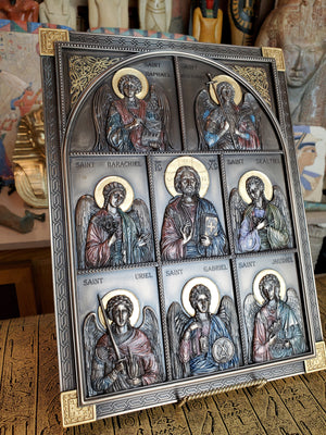 Jesus and the Archangels Plaque