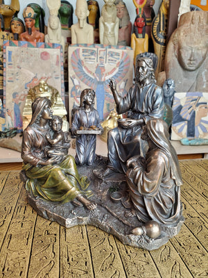 Miracle of The Five Loaves and Two Fish Statue - Cold Cast Bronze
