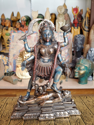 Kali Statue - Hindu Goddess of Death and Time Cold Cast Bronze Statue