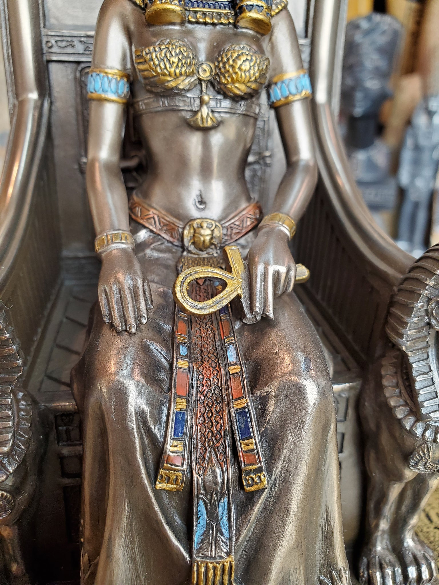 Sekhmet Goddess on Throne Statue
