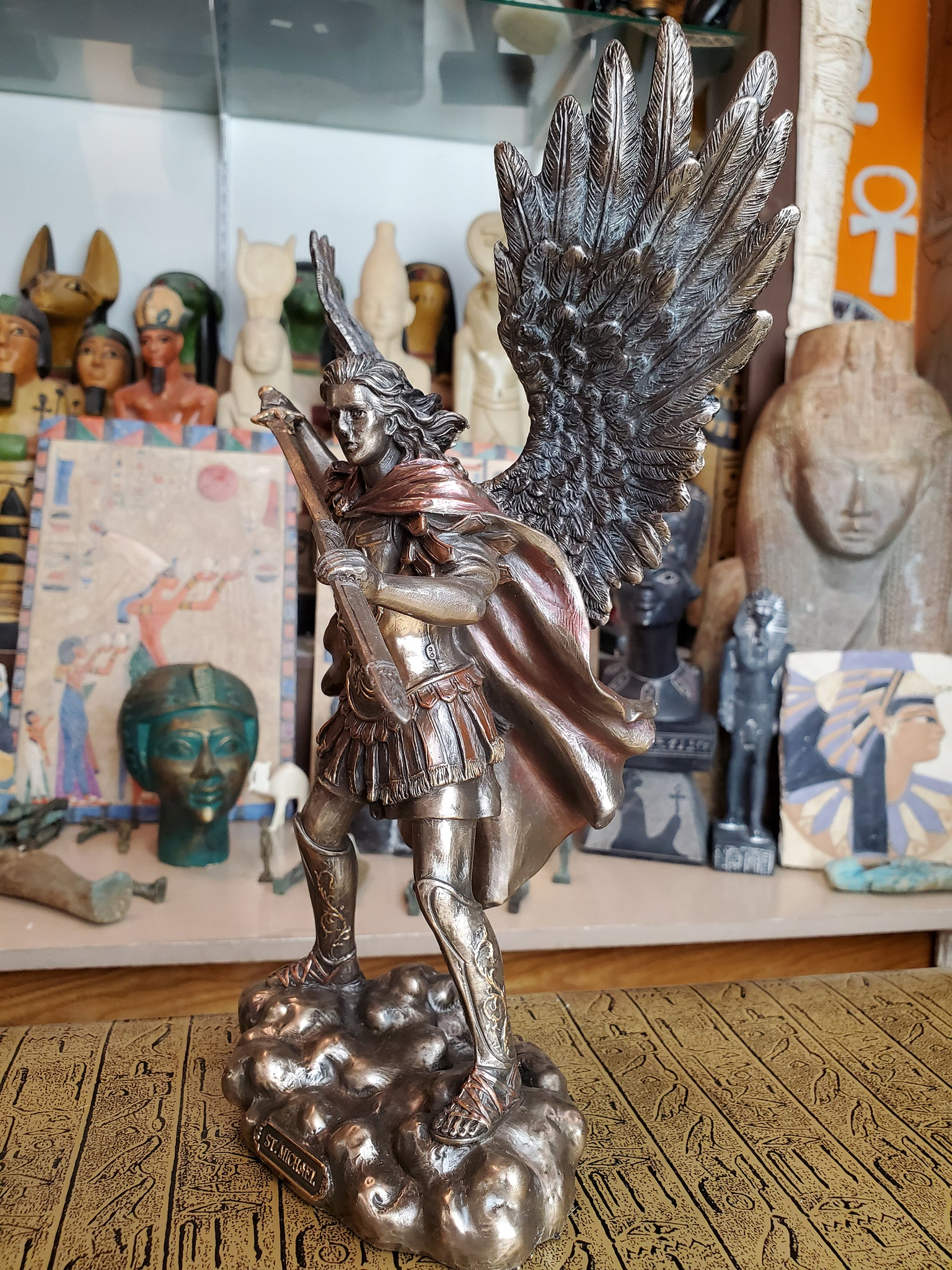 Saint Michael Unsheathing his Sword Statue