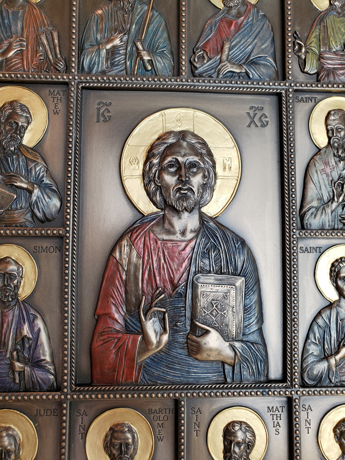 Jesus and the Twelve Disciples Plaque