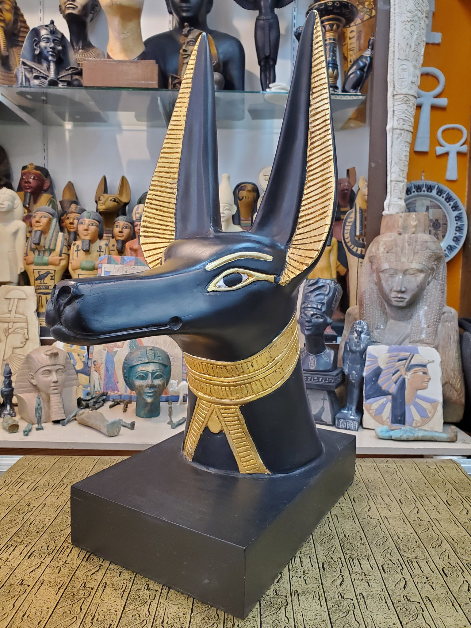 Anubis Bust - Life-size Reproduction Made in Egypt