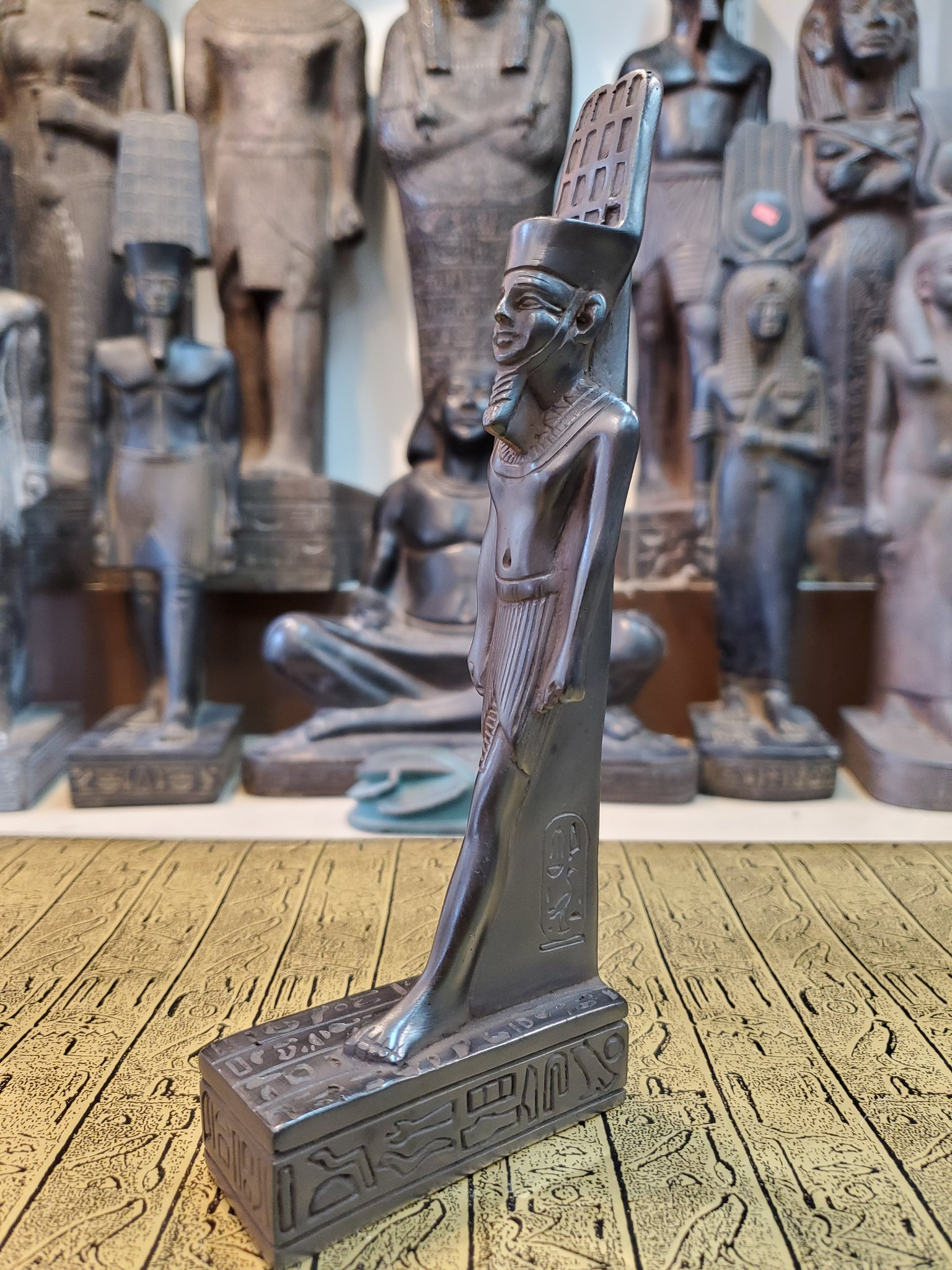 Stone Amun Statue - Made in Egypt