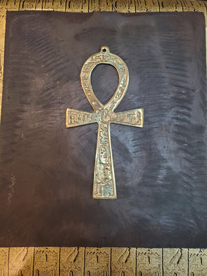 Brass Ankh - Made in Egypt - 16.5cm / 6.5''