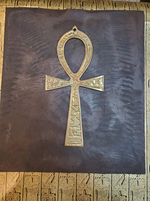 Brass Ankh - Made in Egypt - 18.5cm / 8.5''