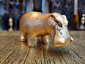 Egyptian Hippopotamus Statue - Real 24k Gold Leaf