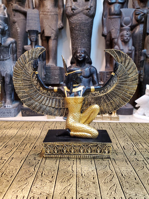 Ma'at Winged Miniature Altar Statue
