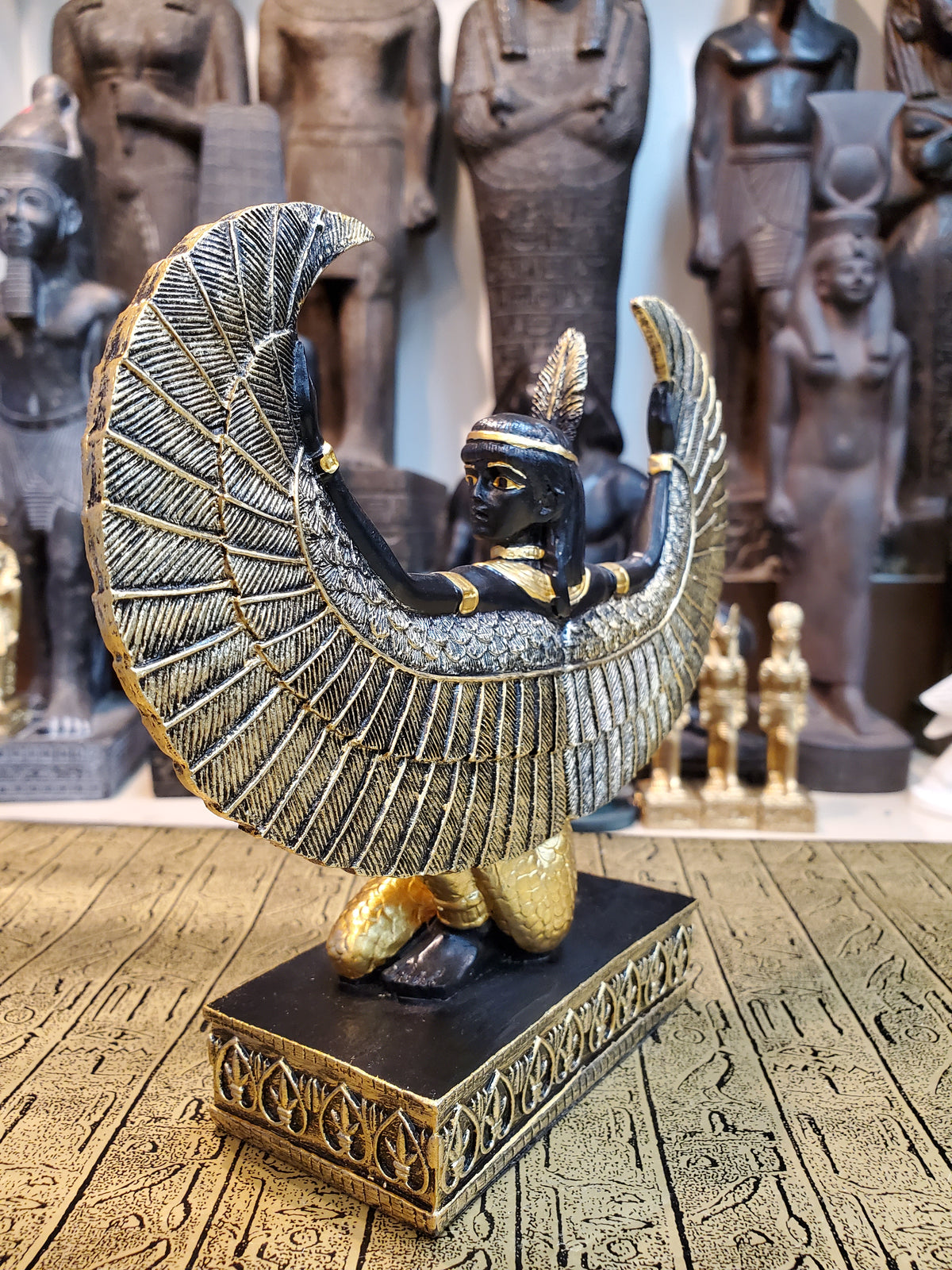 Ma'at Winged Statue