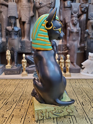 Bastet Statue - Goddess Bastet with Hieroglyphic Base