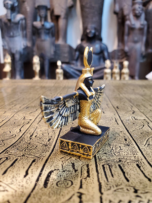 Isis Mini Statue - Small Hand-Painted Ancient Egyptian Goddess Isis - Mini Altar Statue