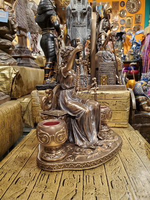 Lady Justice Candleholder - Themis Virtues of Justice Greek & Roman Symbol of Justice