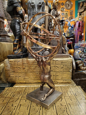Atlas Carrying the World Statue