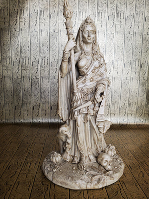 Hecate Greek Goddess of Magic Large White