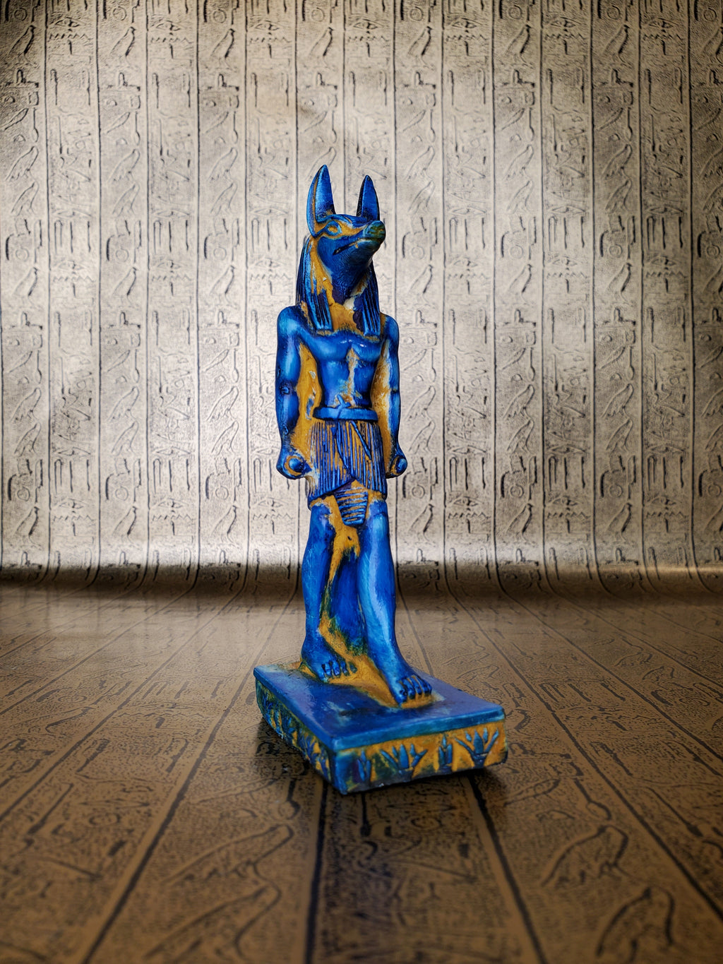 Anubis Statue - Faux Faience