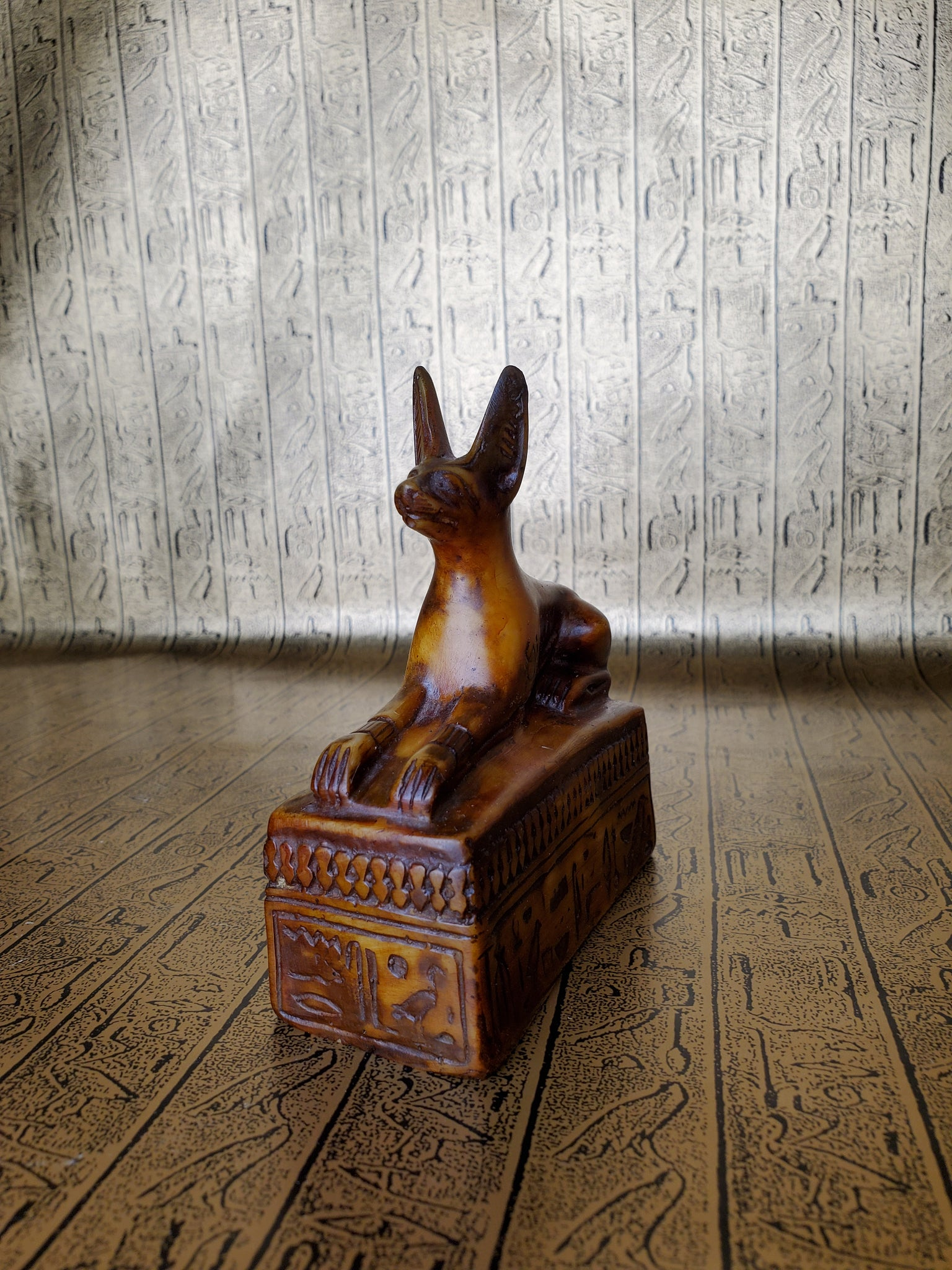 Anubis on Sarcophagus Statue