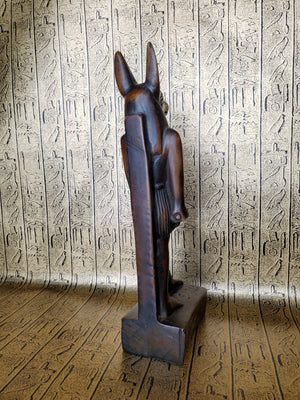 Anubis Stone Statue - Made in Egypt