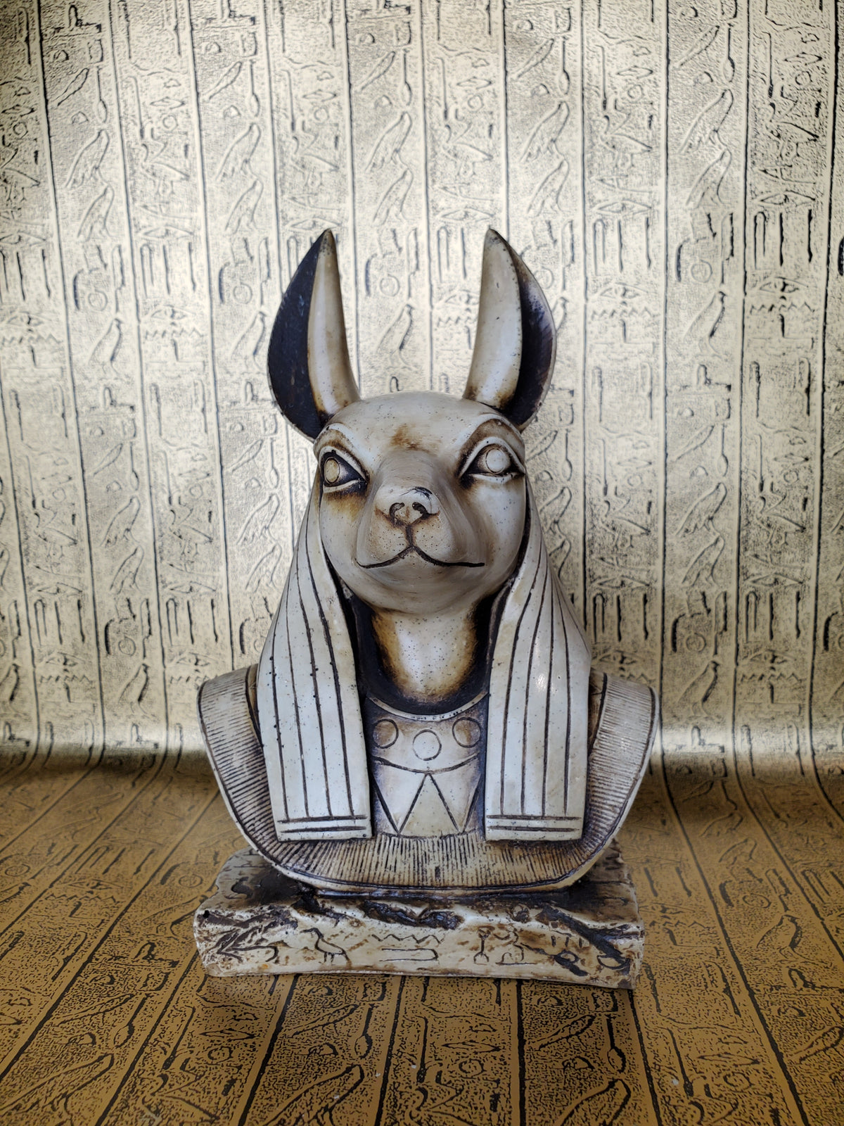 Anubis Bust Statue - Made in Egypt