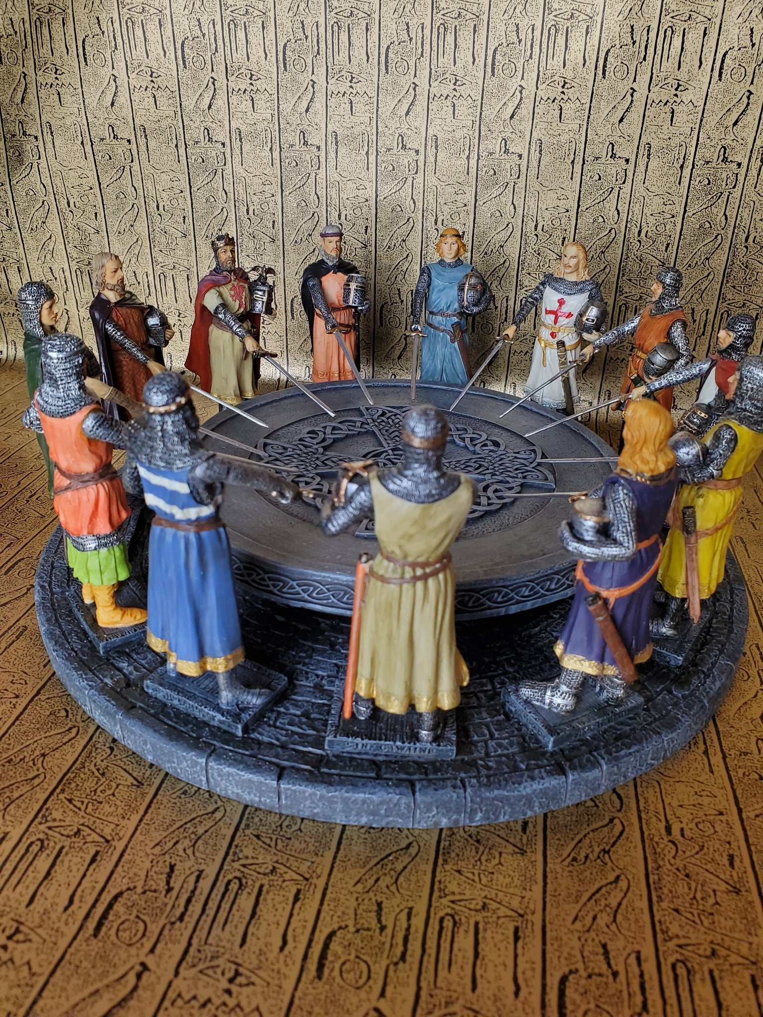 King Arthur and the Knights at the Round Table Statue