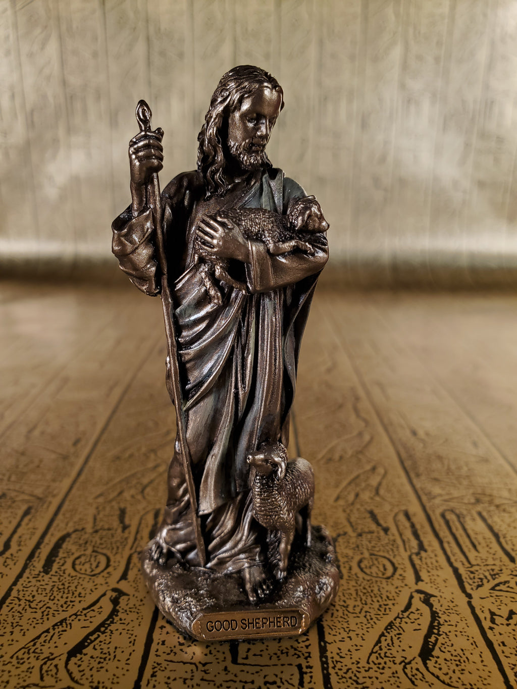 Jesus the Shepherd Mini Statue