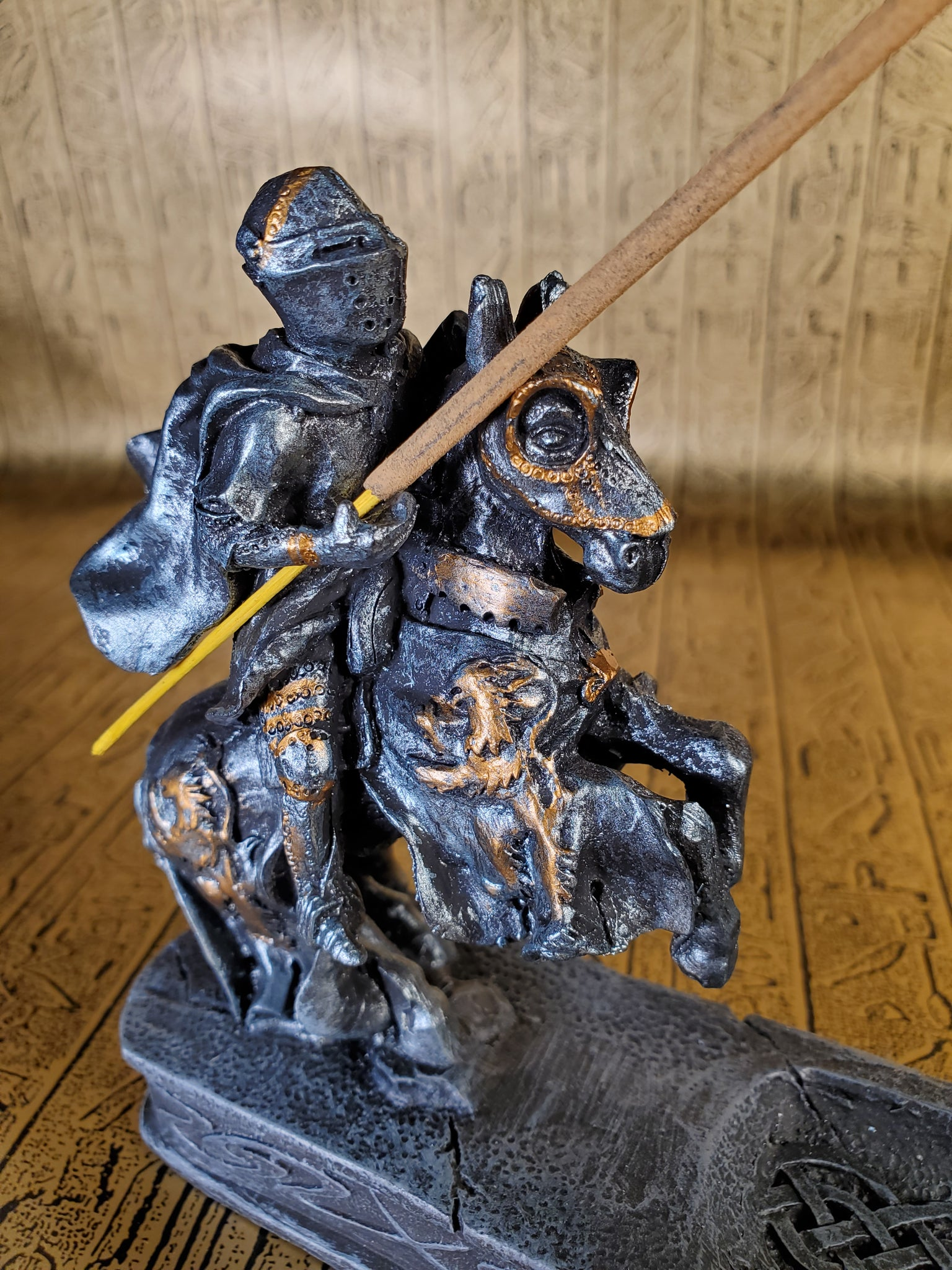 Jousting Knight Incense Burner
