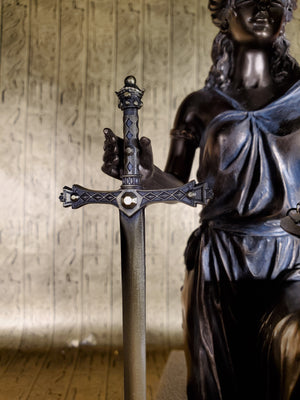 Lady Justice with Sword Letter-opener