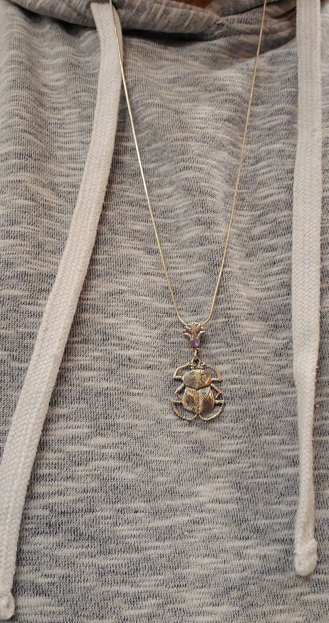 Silver Scarab Pendant - Made in Egypt