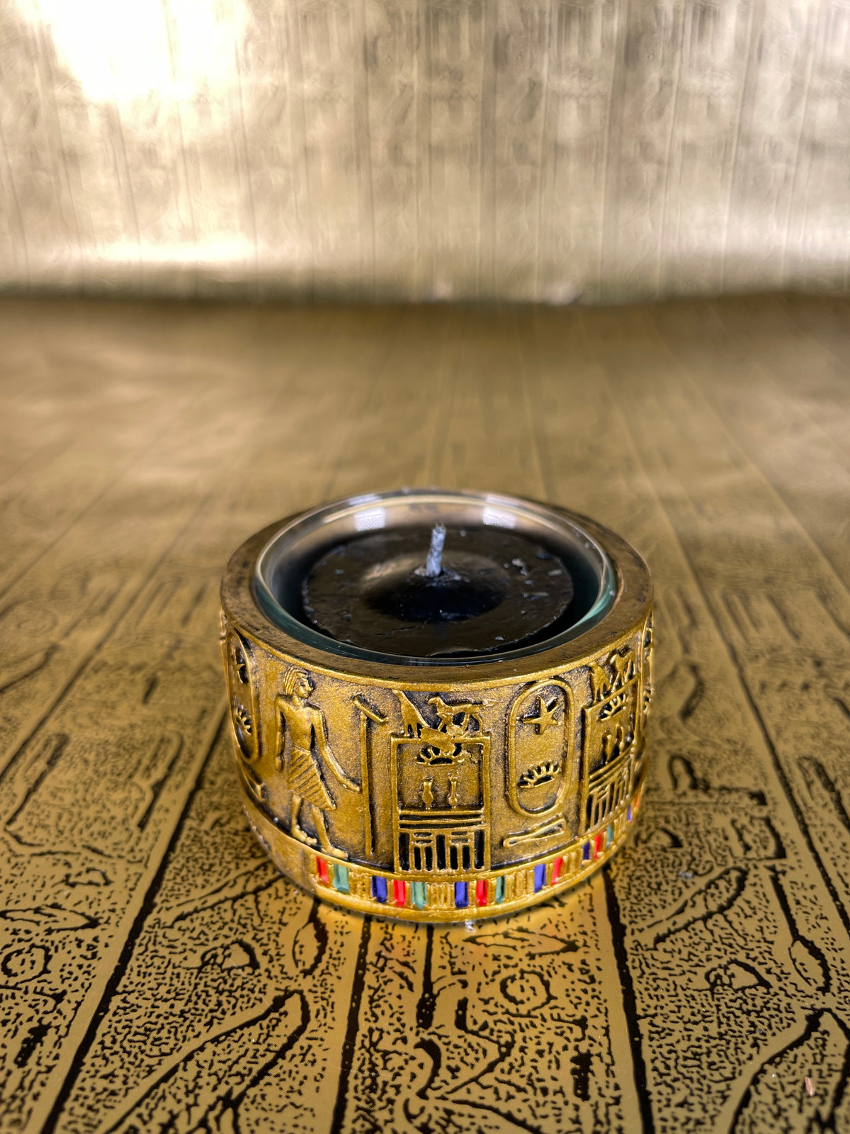 Hieroglyphic Tea-Light Holder