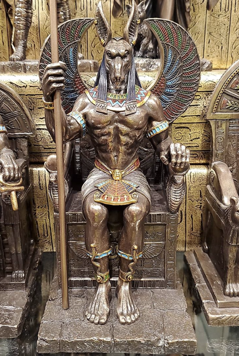 Anubis in Throne - Cold Cast Bronze