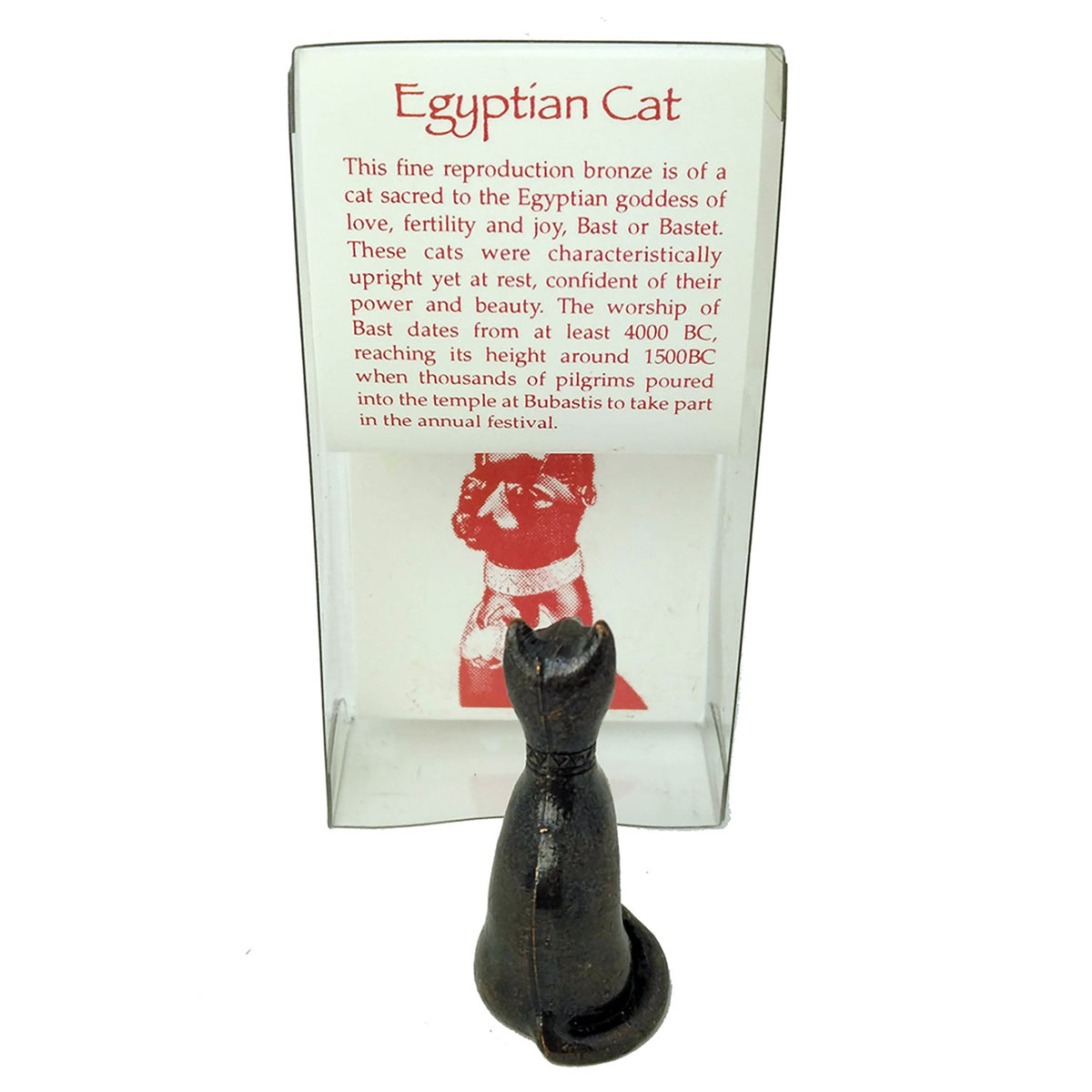 Goddess Bastet Mini Bronze Replica