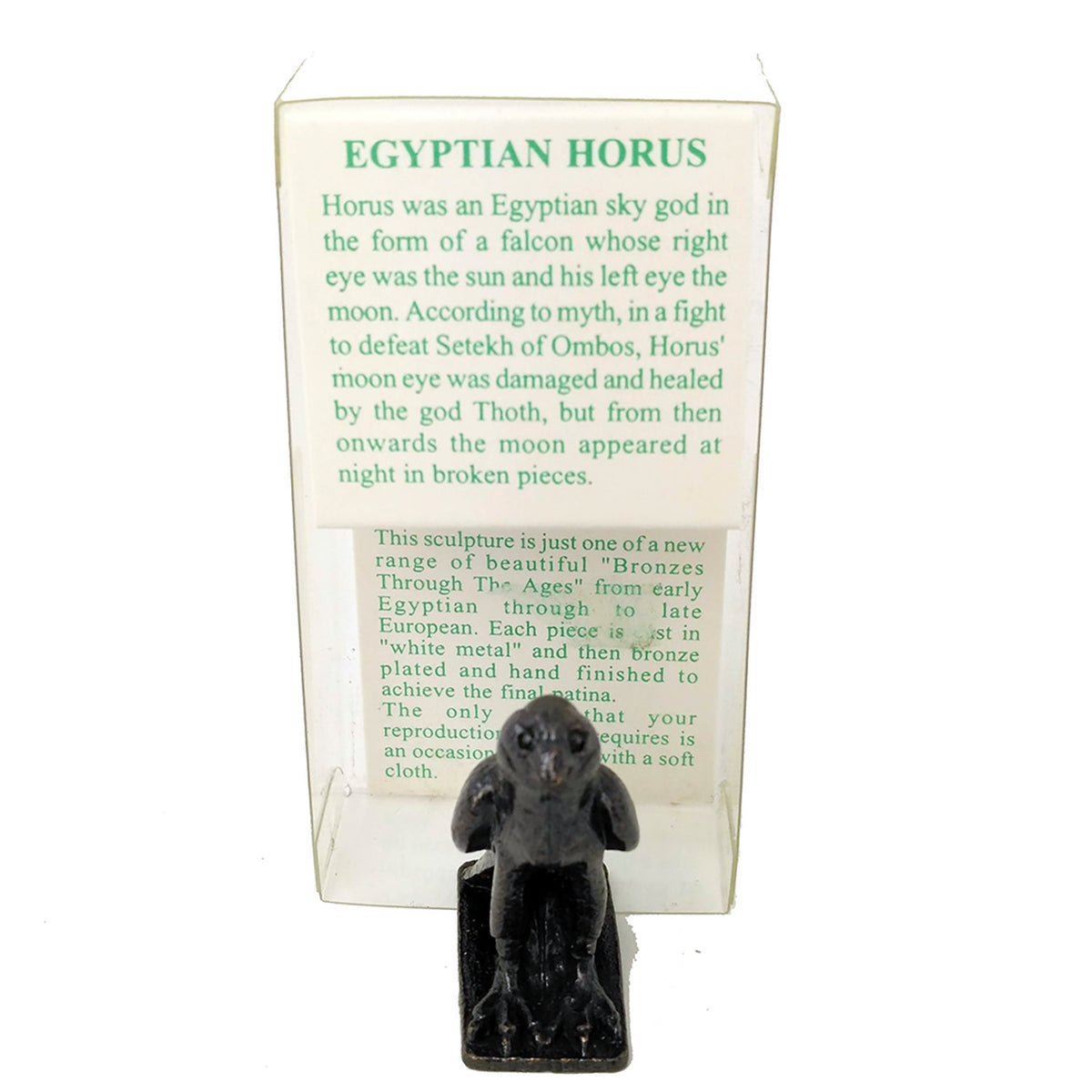 Ancient Egyptian God Horus - Bronze Reproduction Figurine - Small Ancient Egyptian Falcon God Statue - Exact Museum Replica!