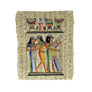 Hand-painted Ancient Egyptian Music Girls Papyrus - 30x40cm