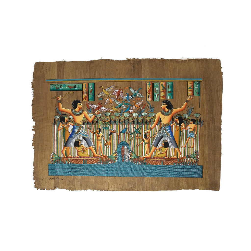 Fishing & Fowling on the Nile Papyrus - 40x60cm