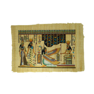 Isis Leading Nefertari into the Afterlife & Goddesses Isis and Ma'at Papyrus - 40x60cm